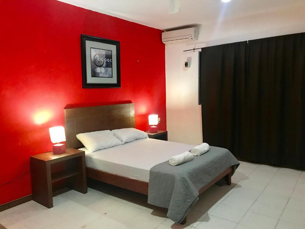 Cama o camas de una habitación en Caribbean Beach House