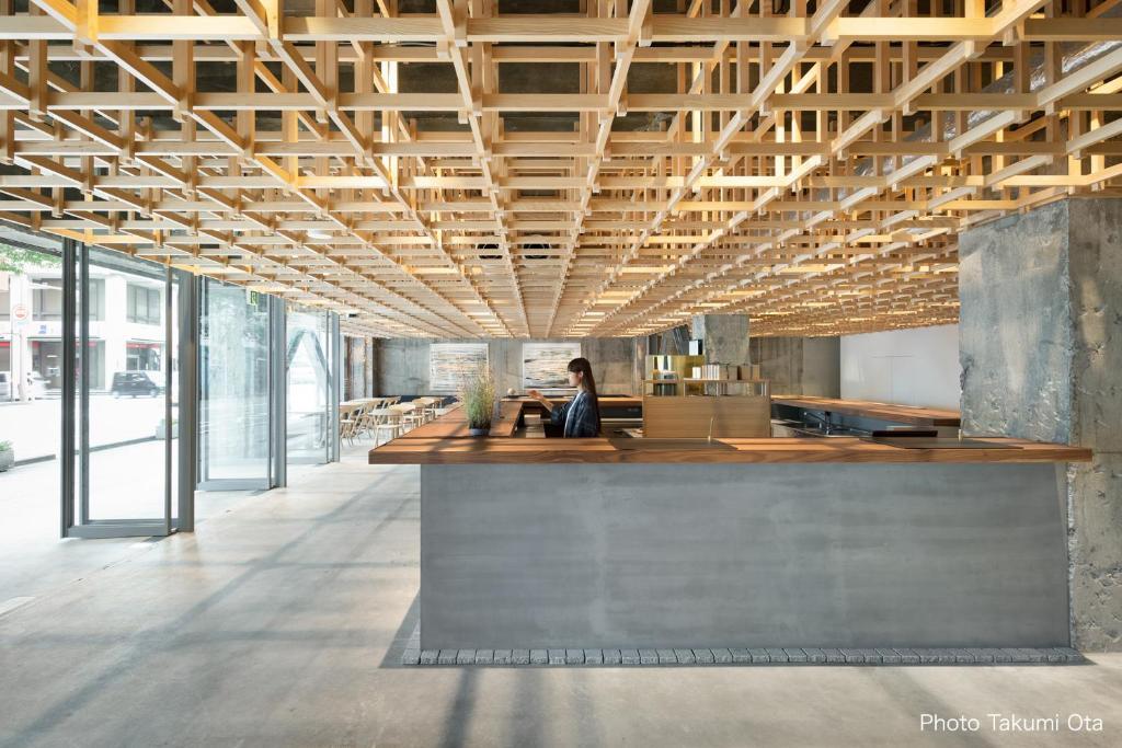 The lobby or reception area at THE SHARE HOTELS KUMU Kanazawa