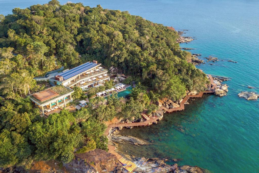 A bird's-eye view of Six Senses Krabey Island