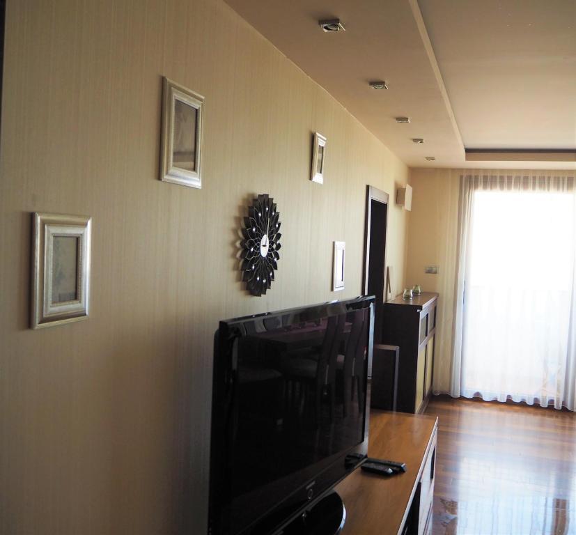 Televízia a/alebo spoločenská miestnosť v ubytovaní Apartment Palarikova