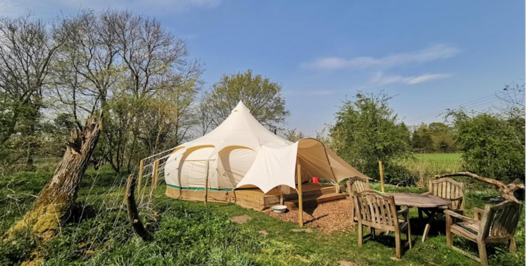 Luxury Tent Moat Island Glamping