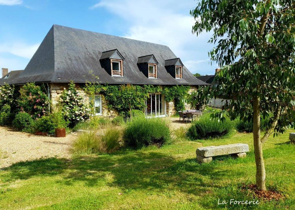 A garden outside La Forcerie de Chatelais