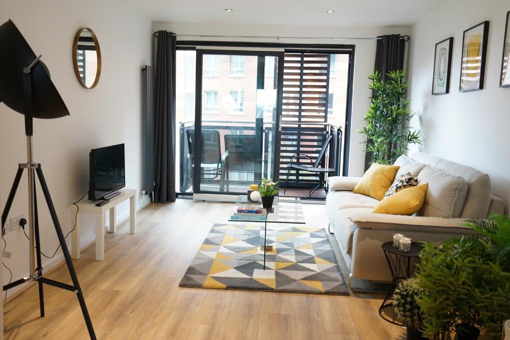 منطقة جلوس في Perfectly located stunning apartment