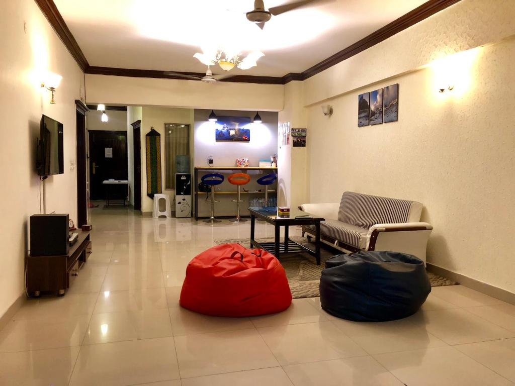 Area soggiorno di Backpackers Hostel & Guest house Islamabad