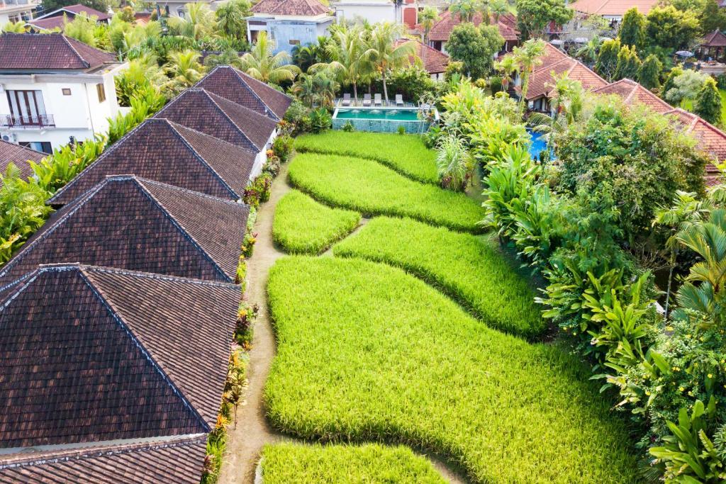 A bird's-eye view of Bije Sari Suite Bisma