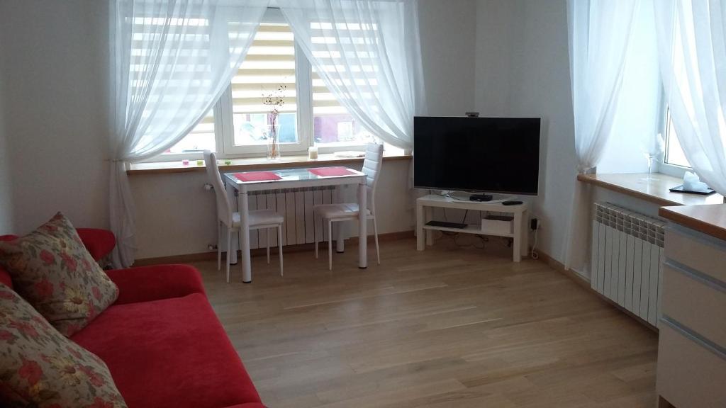 טלויזיה ו/או מרכז בידור ב-Apartment in Kaunas Old Town