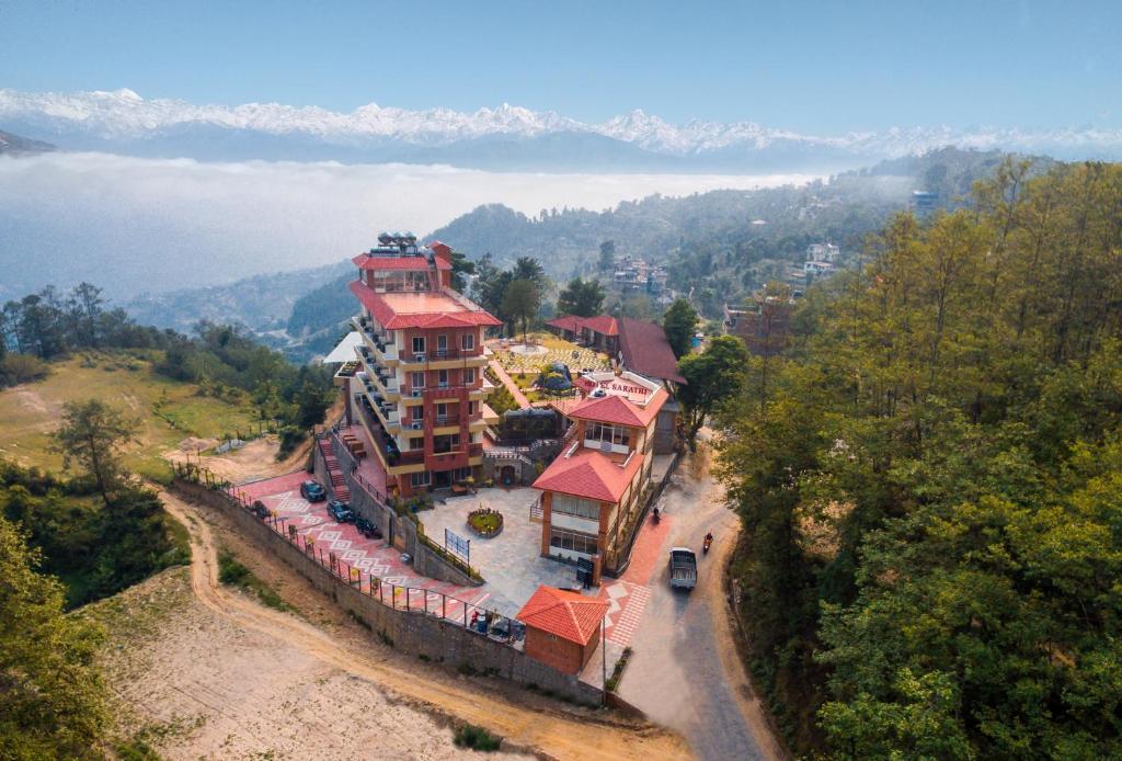 A bird's-eye view of Hotel Sarathi