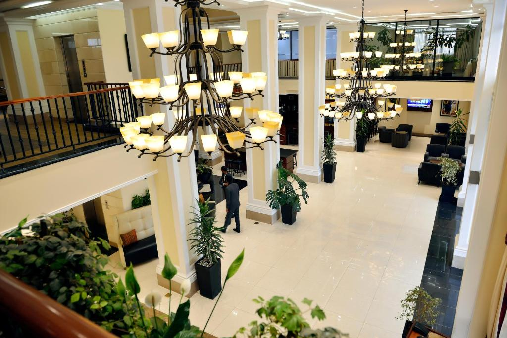 The lobby or reception area at The HUB Hotel