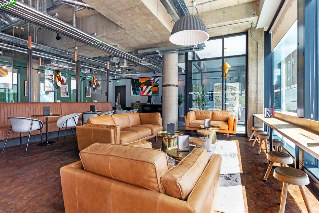 The lounge or bar area at The Hendrick Smithfield