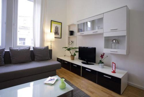 A television and/or entertainment centre at Brussels City Center Apartments