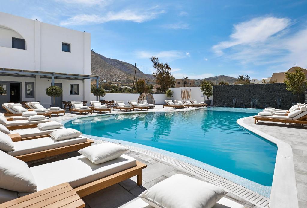 The swimming pool at or near Amara Suites Santorini