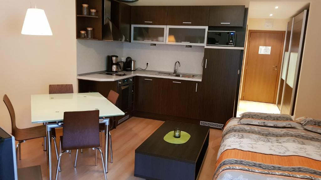 A kitchen or kitchenette at Вила Парк 312