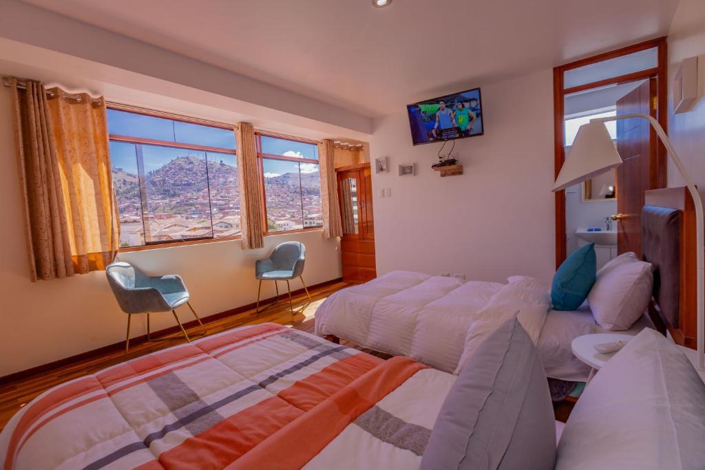 Cama o camas de una habitación en Cozy Room Cusco