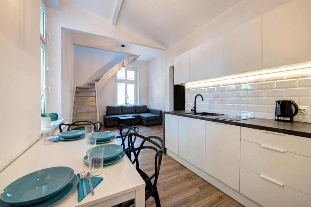 Cucina o angolo cottura di Lipowa Apartments