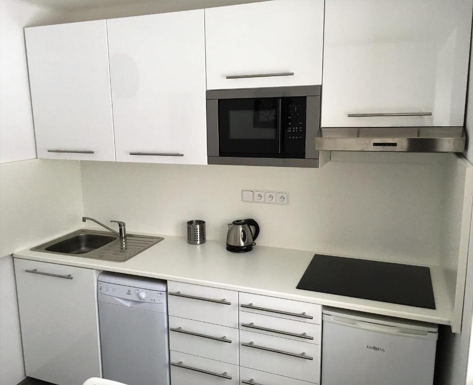 Kuchyň nebo kuchyňský kout v ubytování Apartmány Jakub - Lipno nad Vltavou