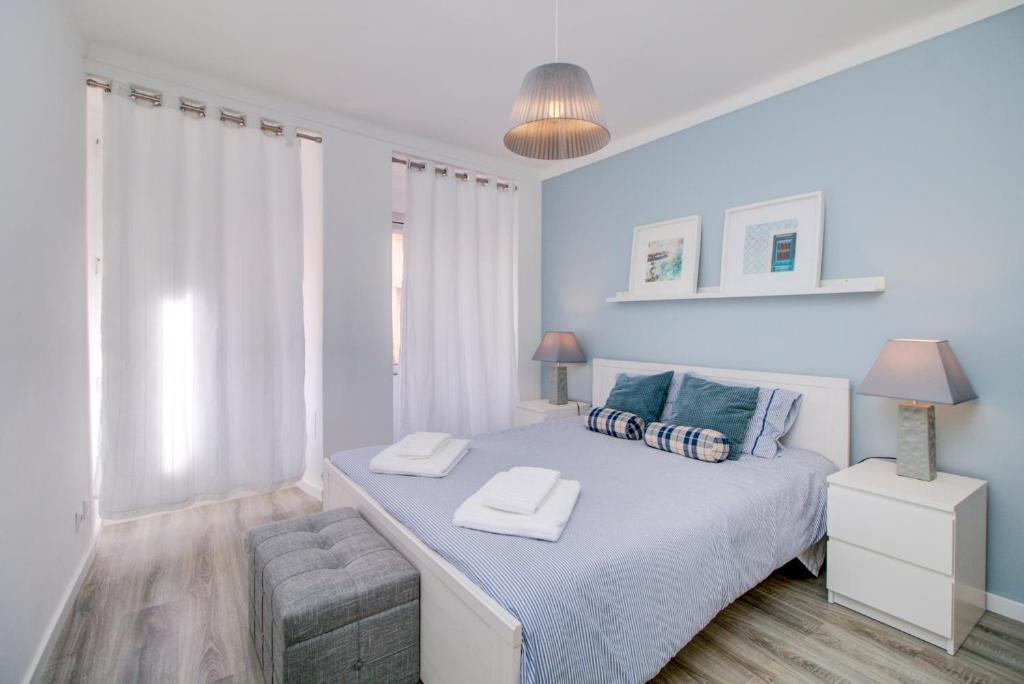 Cama ou camas em um quarto em Near everything in Lisbon