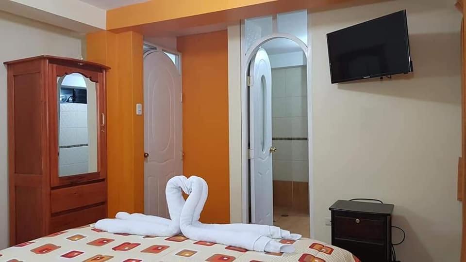 Cama o camas de una habitación en Chullos House