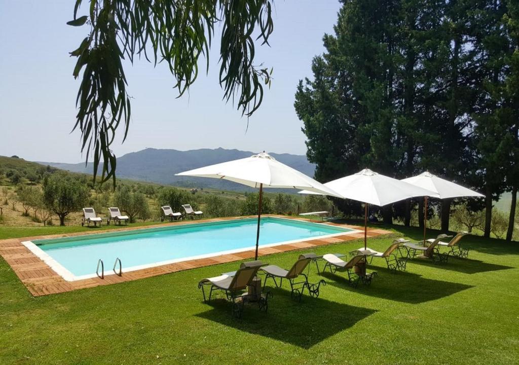 Het zwembad bij of vlak bij Masseria Rossella