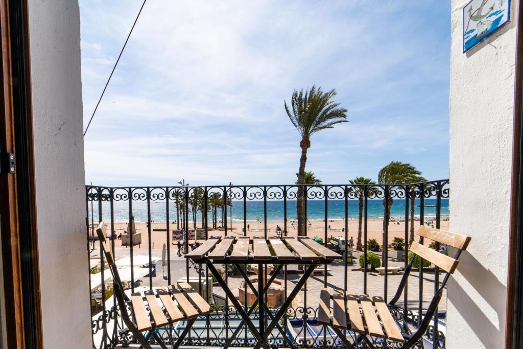 A balcony or terrace at Seanema Beach Park