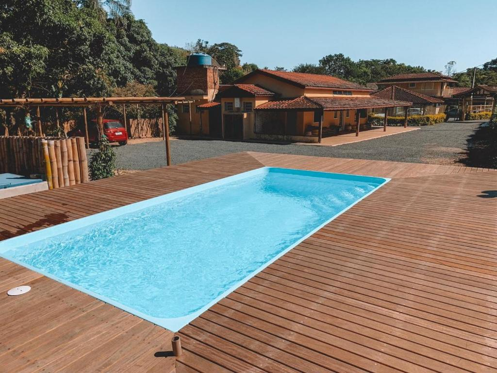 The swimming pool at or near Pousada Santo Antônio