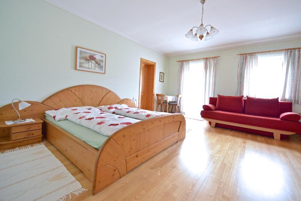 Posteľ alebo postele v izbe v ubytovaní Müllnerbauer