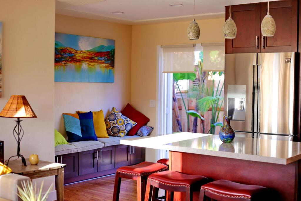 A seating area at Once Upon a Tide Beach House