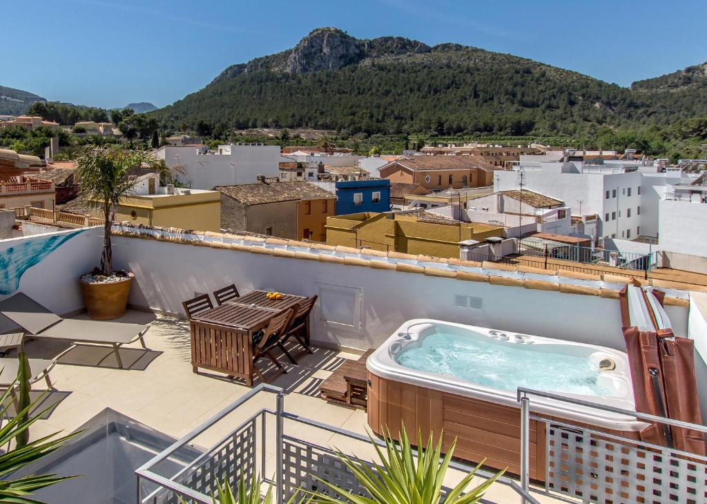 Un balcón o terraza de Mardenit - Adults only