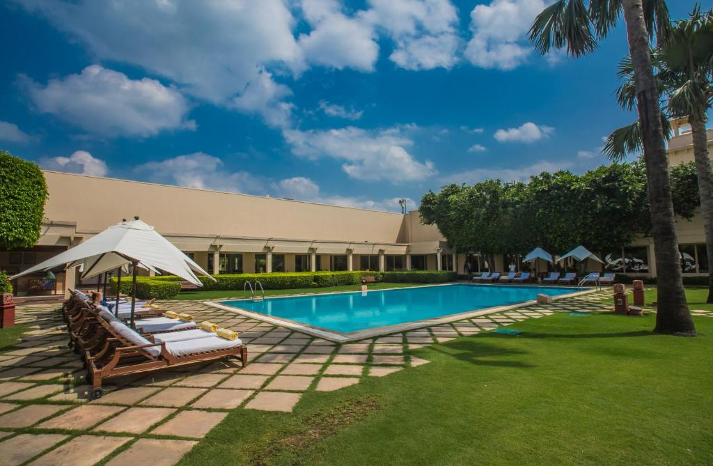 The swimming pool at or close to Trident Agra
