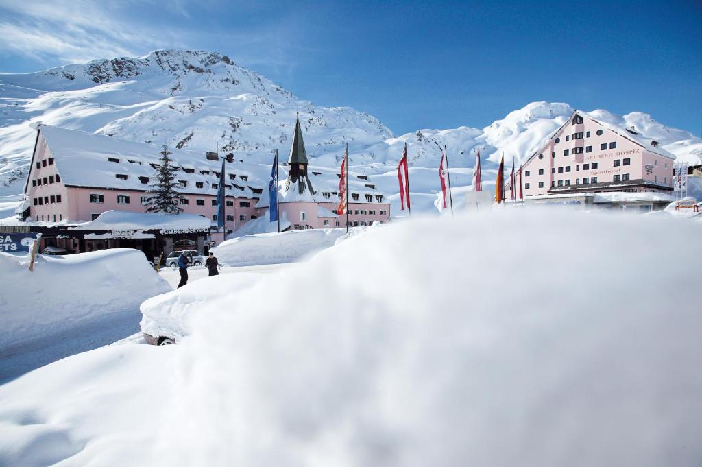 Arlberg Hospiz Hotel during the winter