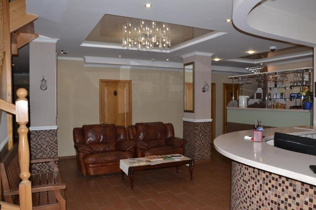 The lobby or reception area at Pustozyorsk