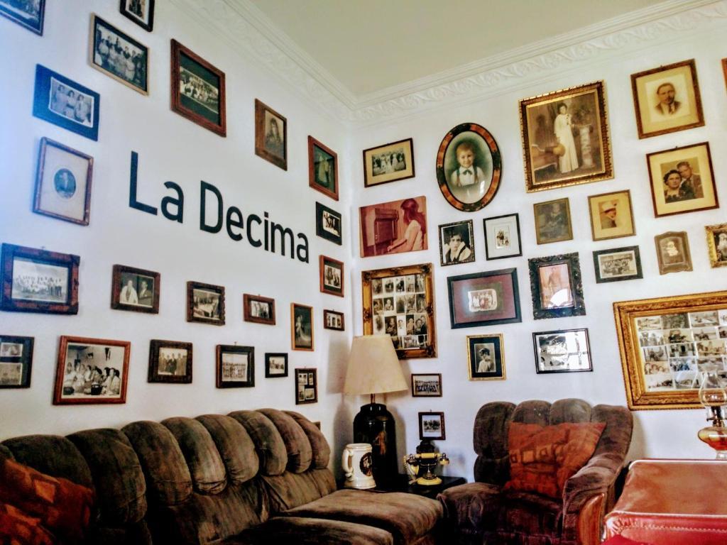 Zona de estar de La Decima Guest House