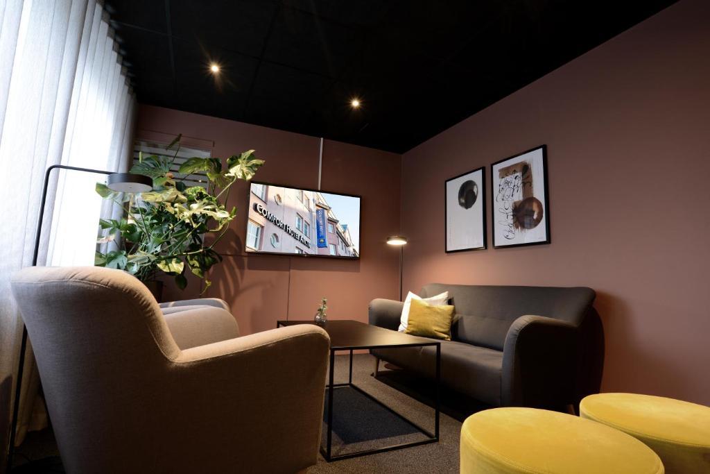 Ein Sitzbereich in der Unterkunft Comfort Hotel Arctic