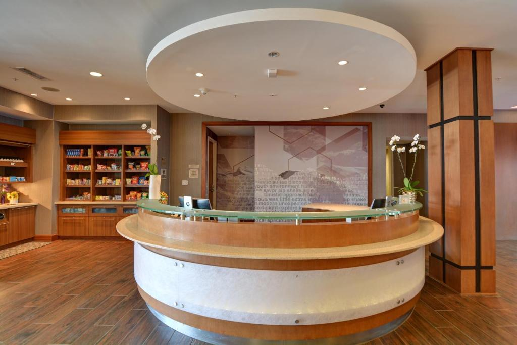 The lobby or reception area at SpringHill Suites Denver at Anschutz Medical Campus