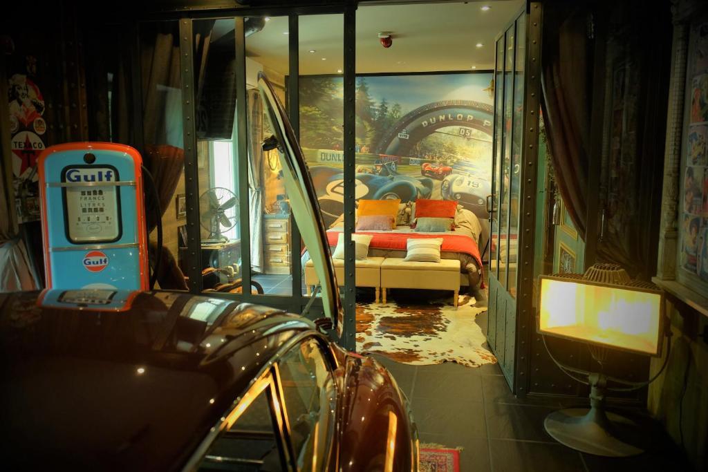 Salon ou bar de l'établissement Drivers Room