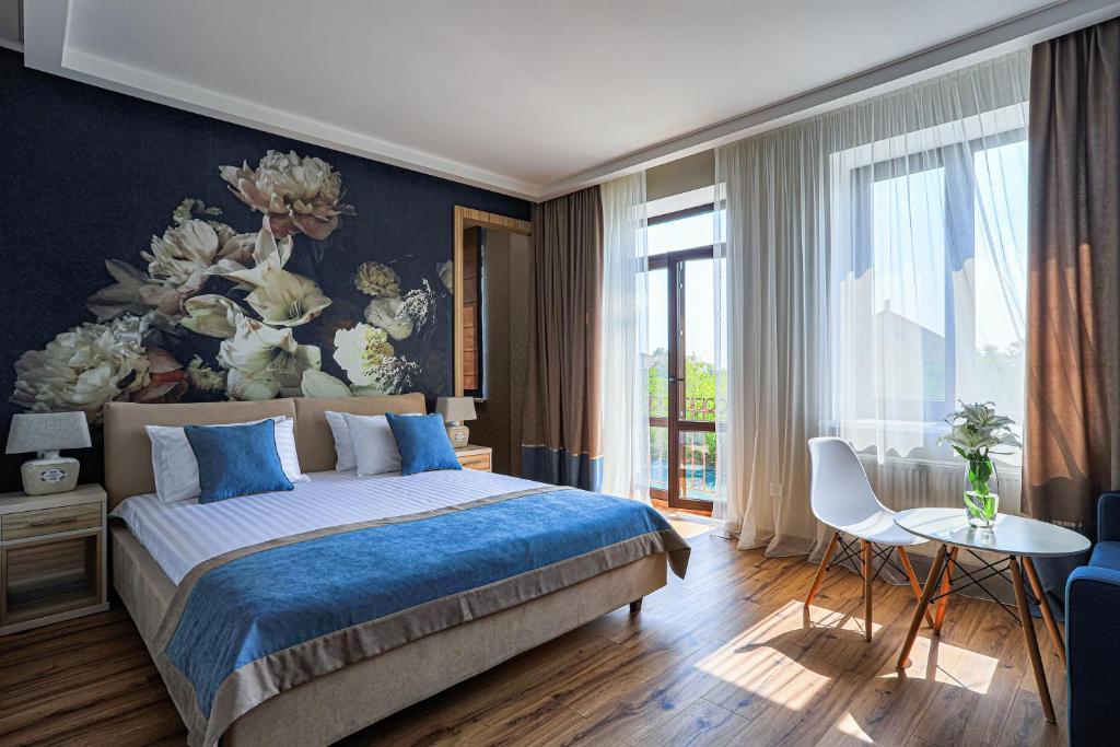 Кровать или кровати в номере Redling Hotel