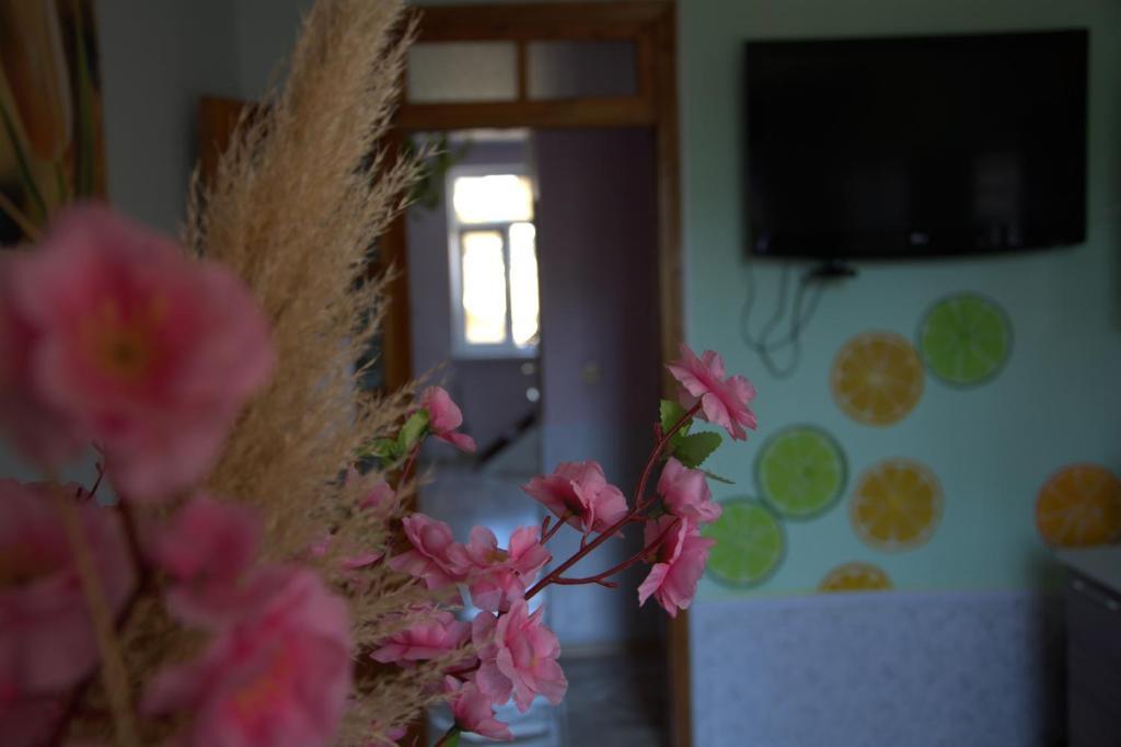 Телевизор и/или развлекательный центр в Hostel V Okrug Sveta (Center)