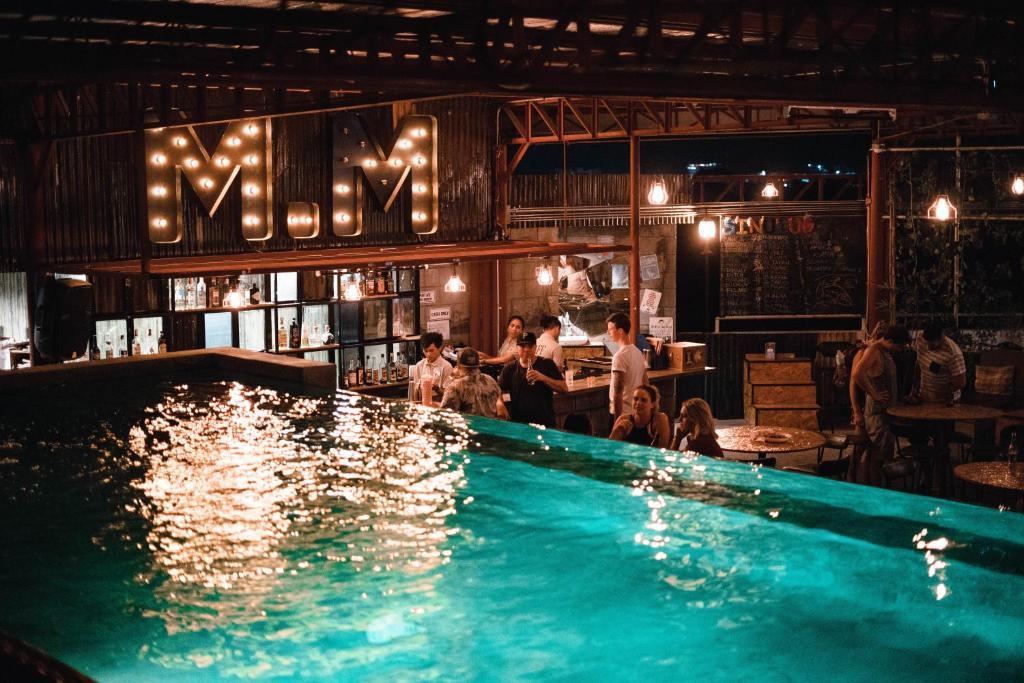 The swimming pool at or near Mad Monkey Cebu City