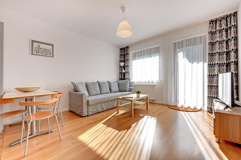 Część wypoczynkowa w obiekcie Green Pohulanka Gdansk Center Apartment