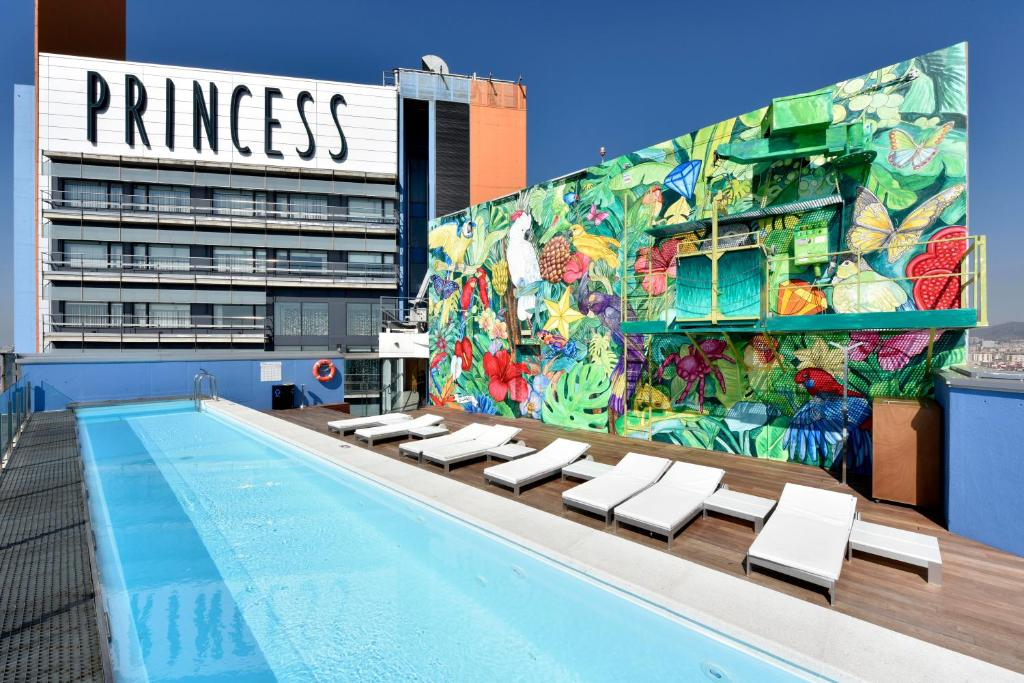 The swimming pool at or near Barcelona Princess