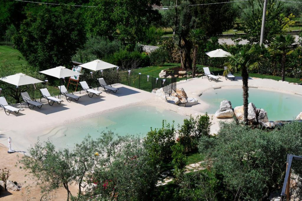 A bird's-eye view of Hotel La Grotte