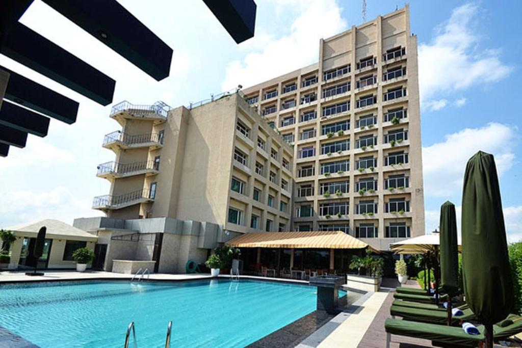 The swimming pool at or near The Landmark Towers