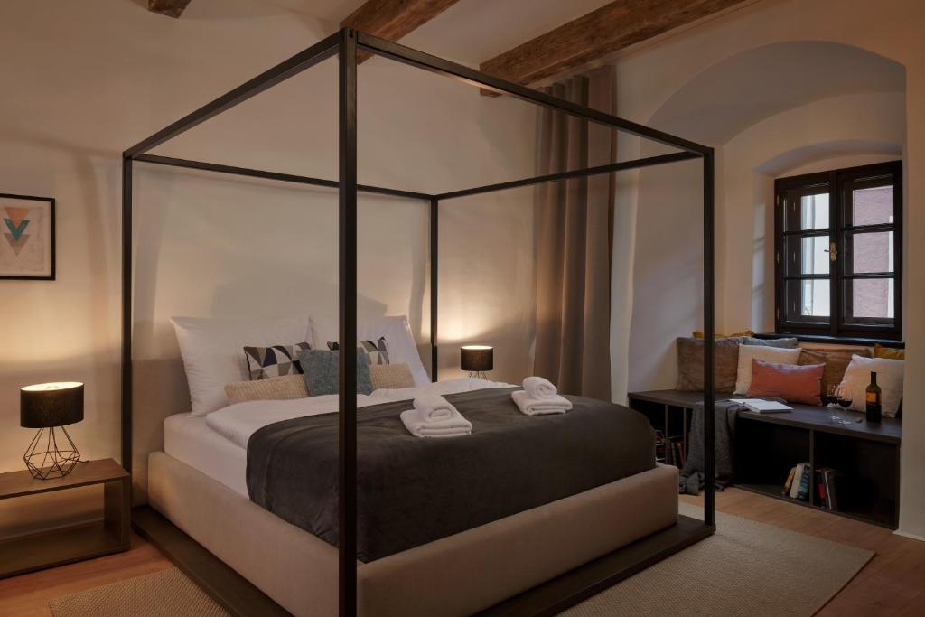 Ein Bett oder Betten in einem Zimmer der Unterkunft Pension Kristian
