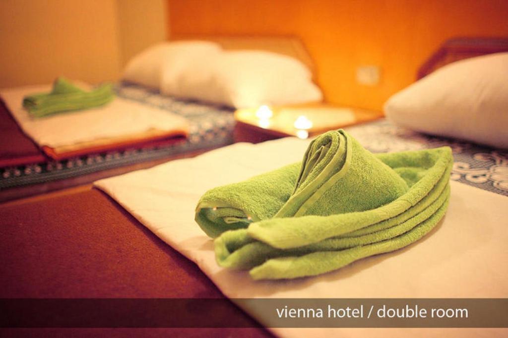 En eller flere senger på et rom på Hostel Vienna