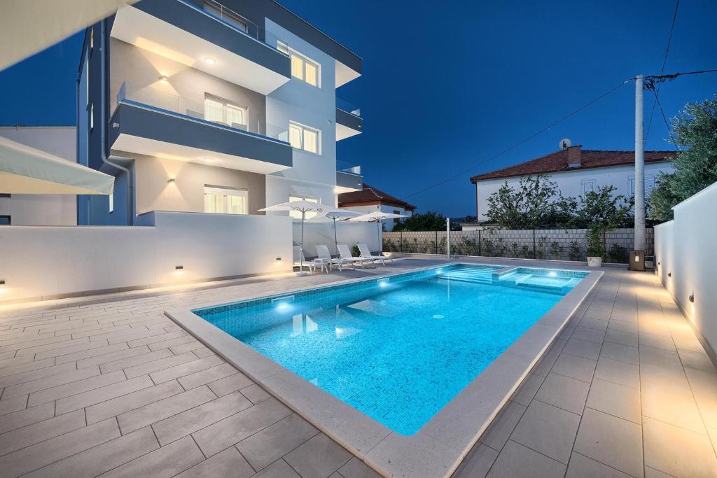 The swimming pool at or close to Hotel Trogirski Dvori