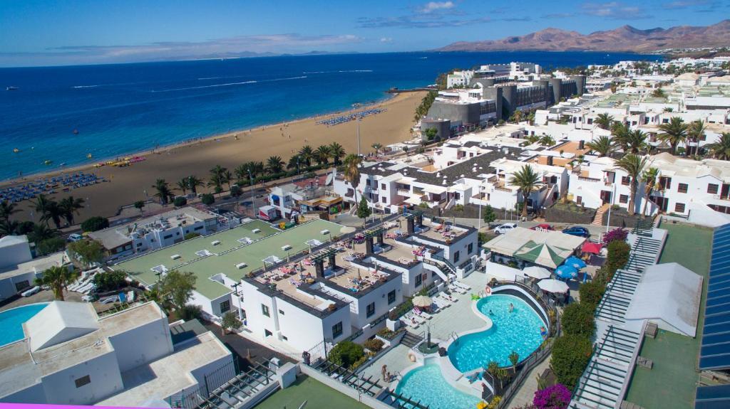 Pohľad z vtáčej perspektívy na ubytovanie Apartamentos Moraña