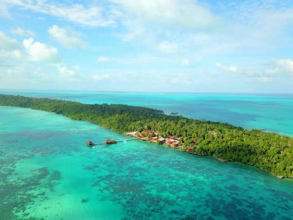 A bird's-eye view of Maratua Seaview Resort