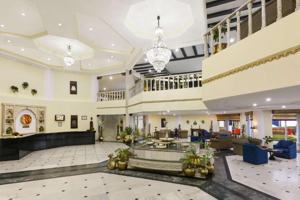 The lobby or reception area at Ramada Khajuraho
