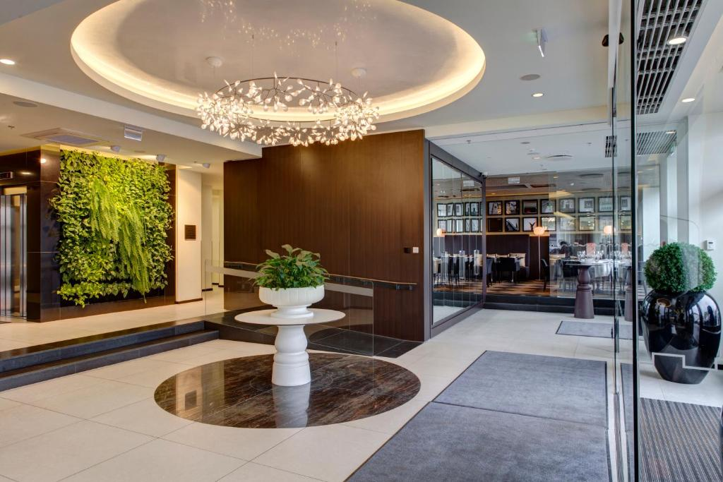 The lobby or reception area at Hotel Palace by TallinnHotels