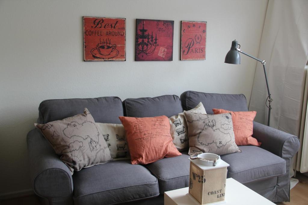 Ein Sitzbereich in der Unterkunft Appartements Lili Marleen