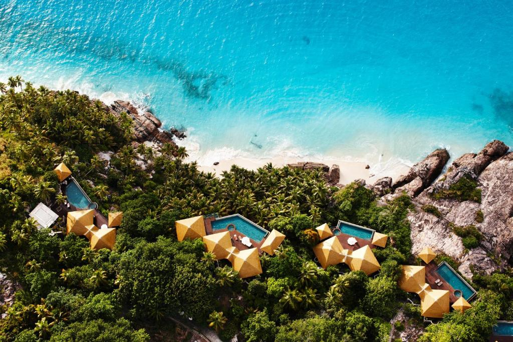 A bird's-eye view of Fregate Island Private